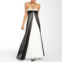 Bee Darlin Two-Tone Flyaway Halter Gown : dresses : juniors : jcpenney