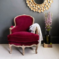 Raspberry Velvet Dietrich Chair