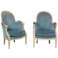 1STDIBS.COM - Riviera Antiques - Pair French Lacquered Bergeres