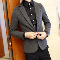 Designer Men Slim Fit Wool Blazer Jacket