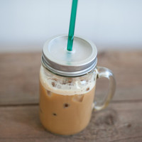 16 oz. Mason Jar Tumbler Mug - Iced Coffee To Go - Eco Friendly Tumbler - Travel Mug - Back in Stock February