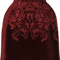 McQ Alexander McQueen | The broderie anglaise velvet bell skirt|NET-A-PORTER.COM