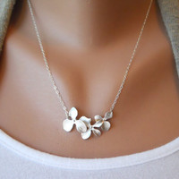 Triple Orchid Necklace by morganprather on Etsy