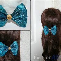 Galaxy inspired Clip on Hair Bow