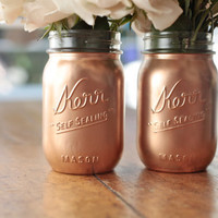 Gold Mason Jar Glasses by AlderDesigns on Etsy