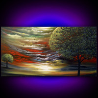 Hidden Lake - http://www.etsy.com/listing/91355200/cloud-painting-tree-painting-lake-largenc=1