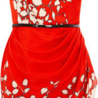 Floral Pleat One Shoulder Dress - Oasis - Polyvore
