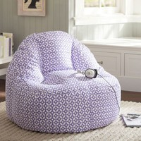 Geo Dot Purple Leanback Lounger