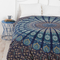 Paisley Medallion Duvet Cover- Blue Multi Full/queen