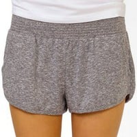 Smocked Melange PJ Shorts | FOREVER 21 - 2025100863