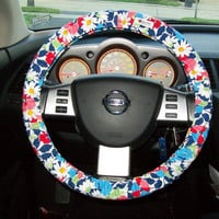 Designer Inspired Steering Wheel Cover by mammajane on Etsy