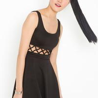 Lattice Skater Dress in  Clothes Dresses at Nasty Gal