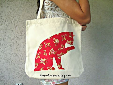 Love What's Missing | Red Roses Cat Tote | Online Store Powered by Storenvy