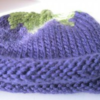 Blue Berry newborn hat 03 month by handmadefuzzy on Zibbet