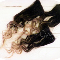 ONE PIECE 12 Ombre Dip Dye Clip In Human by SissysCosmoCreations