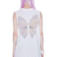 Wildfox Couture Fairy Wings Muscle Tank | Dolls Kill