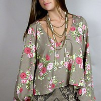Chelsey St. Gaudens Top ~ Mocha Rose | Show Me Your Mumu