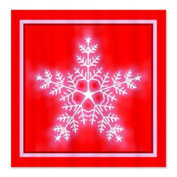 Red And White Star Snowflake Shower From Cafepress Hippie Gifts