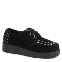 Black Studded Loiter Brothel Creepers