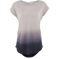 Navy and Grey Dip Dye T-Shirt