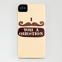 I Mustache You A Question iPhone Case by Skylar Hogan | Society6