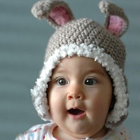 Rabbit Bunny Hat  24 Years by beliz82 on Etsy