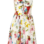Dolce &amp; Gabbana|Floral-print silk crepe de chine dress|NET-A-PORTER.COM