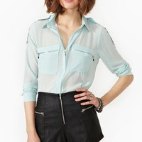 Zoe Zip Blouse