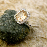 Custom Made 165 ct Cushion Cut Champagne by AdziasJewelryAtelier