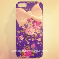 Lions Pride By Meri — Flower & Peach Bow iPhone 5 Case