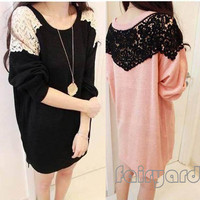 Women&#x27;s Lace Shoulder Lo...