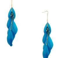 Feathered Chain Earrings | FOREVER21 - 1000036482