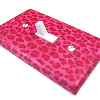 Light Switch Cover Pink Cheetah Bedroom Decor Teen Girls Bedroom Leopard Spots Switchplate Switch Plate 951