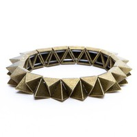 Bronze Pyramid Stud Bracelet