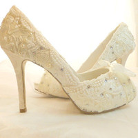 Lacey Ivory with Swarovski crystal and by everlastinglifashion