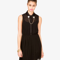 Chained Collar Dress