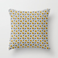 DAISY CHAINS Throw Pillow by catspaws | Society6