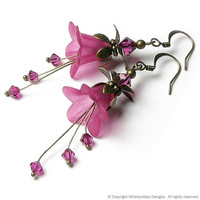 Exotic Fuchsia Floral Fantasy Crystal by whimsydaisydesigns