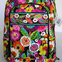 New Vera Bradley Va Va Bloom LAPTOP BACKPACK School Book Bag NWT