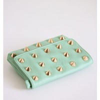Spiked Mint Clutch