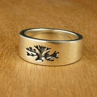 Women's Tree of Life Wedding Ring | Handmade Wedding Rings | Handcrafted Jewelry at Turtle Love Co.
