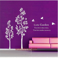 Two Trees with birdsVinyl wall decal stickerTree by walldecals001