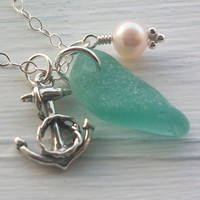 Scottish Sea Glass Jewelry Rare Turquoise Sea by seaglasssparkles