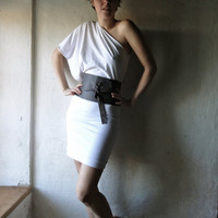 White Off Shoulder Dress by larimeloom on Etsy