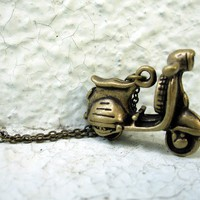 Mens Necklace Vespa Scooter pendant Necklace For by pearlatplay