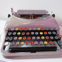Typewriter Portable Remington Rand Colored Keys by shoppnspree