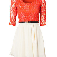 Selma Lace Dress, Paprika
