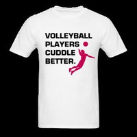 VOLLEYBALL PLAYERS CUDDLE BETTER (Pink)