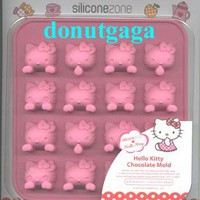 * Sanrio Hello Kitty Silicone Chocolate Small Cake Mold 16 pcs Kitty Shape Cute*