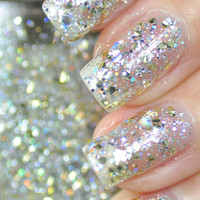 Mumbling Silver and Gold Glitter Nail Polish 15ml(.5oz)